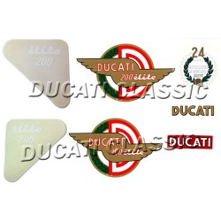 Jgo adhesivos Ducati 200 Elite 1ªS