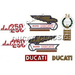 Jgo adhesivos Ducati 250 Deluxe