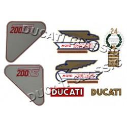 Jgo adhesivos Ducati 200 TS