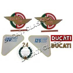 Jgo adhesivos Ducati 125 TS
